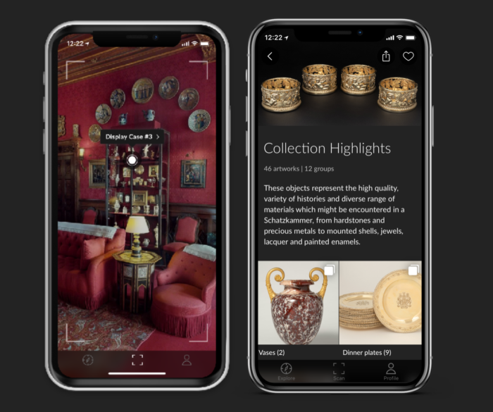 AR scan Collection Highlights Augmented Reality Waddesdon Manor