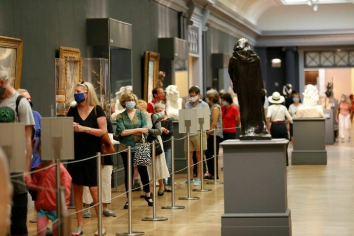 The Met Queue Facemasks Getty Images 1269216779