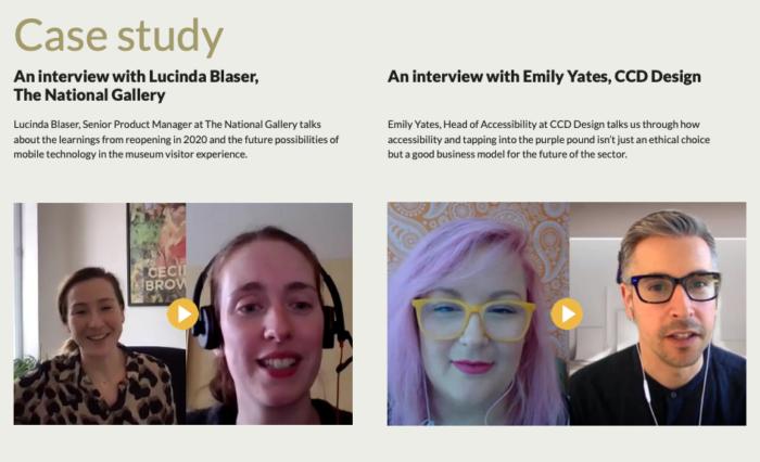 Case study interview screenshot